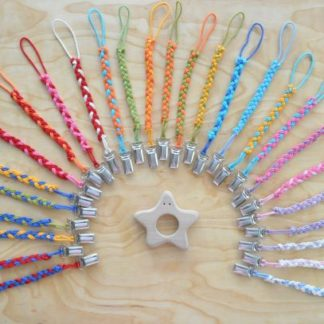 Select teether clip holder color for Wooden Baby Star teether on BarinToys.com.
