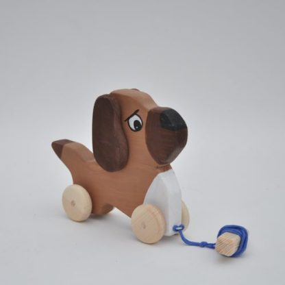 Buy Wooden Toy pull Dog Bulldog by Barin Toys Best Friends Cute Dog wooden pull toys at BarinToys.com online store direct!