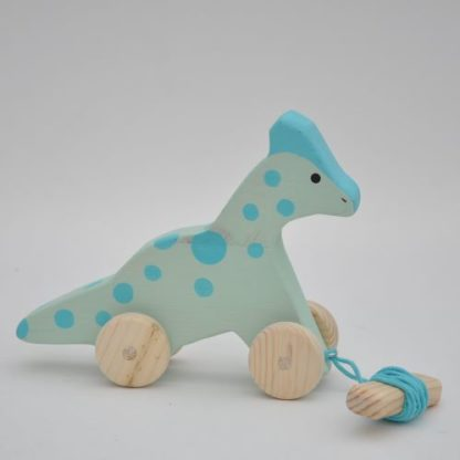 Buy the Barin toys best dinosaur toy for toddlers - Bronto Dino wooden pull toy!