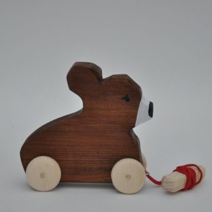 Buy Barin Toys wooden toys Brown Bear pull toy with direct delivery!