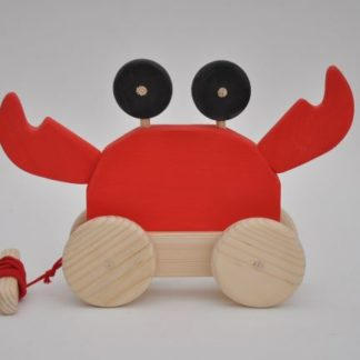 Buy Barin Toys Red Crab wooden toy at BarinToys.com online store!