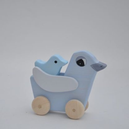 Buy wooden toy Dove Loving Mom with Dove Birds Babies by Barin Toys from BarinToys.com online store direct delivery..