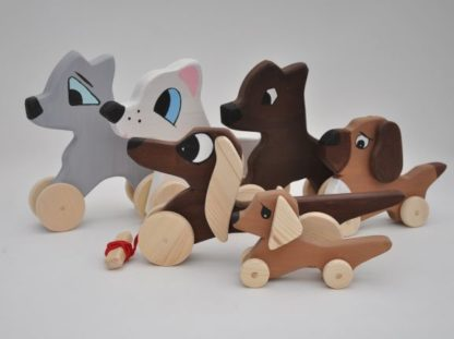 Choose Your's Barin Toys Best Friends Cute Dog wooden pull toys at BarinToys.com online store direct!