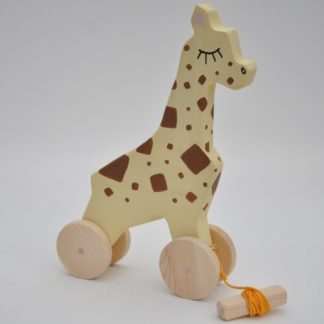 Buy Barin Toys cute giraffe toy BIG wooden pull toy at BarinToys.com online store with delivery.
