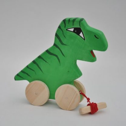 Buy pull along T Rex dino wooden toy at BarinToys.com online store today!