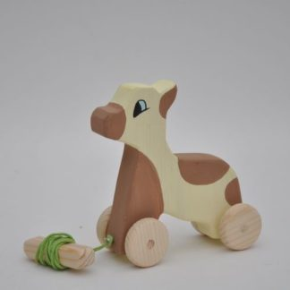 Buy wooden calf pull toys at BarinToys.com online store.