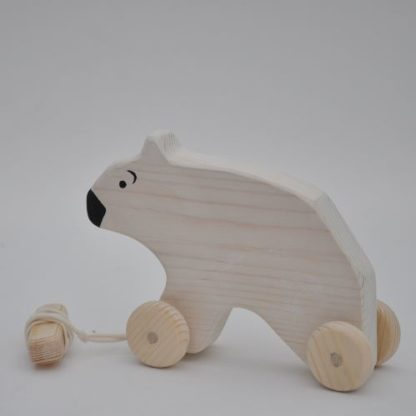Barin Toys polar bear wooden toy to buy from BarinToys.com online toy store.