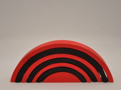 Buy monochrome red rainbow stacking toy for newborn visual skill development at BarinToys.com online store