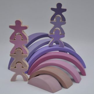 Buy pastel rainbow stacking toy for toddler visual and motor skill development at BarinToys.com online store