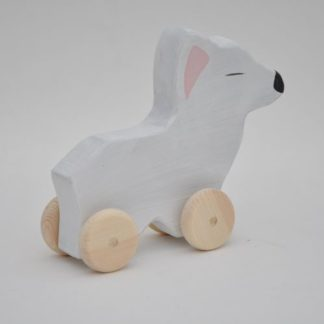 Buy wooden pull toy Polar Fox at BarinToys.com onle toy store.