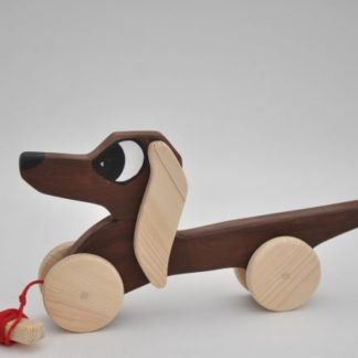 Buy Dachshund Sausage Dog Pull Toy by Barin Toys Best Friends Cute Dog wooden pull toys at BarinToys.com online store direct!