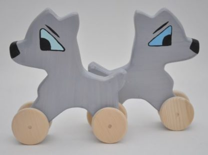 Shy Puppy Husky Toy by Barin Toys Best Friends Cute Dog wooden pull toys at BarinToys.com online store direct!