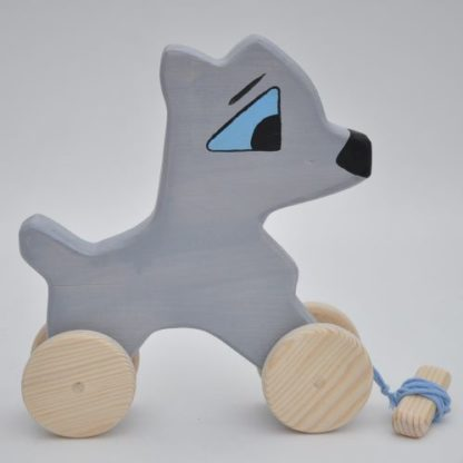 Buy Shy Puppy Husky Toy by Barin Toys Best Friends Cute Dog wooden pull toys at BarinToys.com online store direct!
