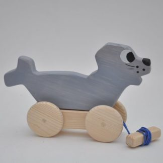 Buy pull along Barin Toys Sea Lion wooden toy direct from brand online store!