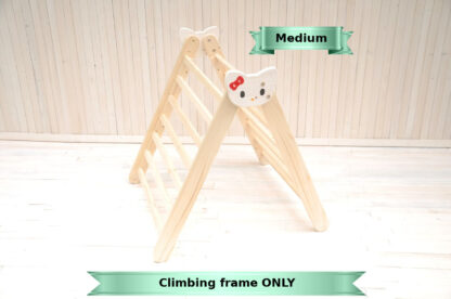 Climbing frame for toddlers girls Hello Kitty frame toy by Barin Toys. Medium size climbing frame Pikler triangle toddler climbler early development toy buy with delivery at BarinToys.com toy store