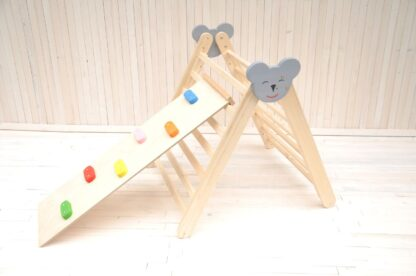 Big Koala climbing frame with Toddler Advanced Climber Rock set Board slide by Barin Toys pikler climber toys for kids and toddlers and babies from 6 months old.
