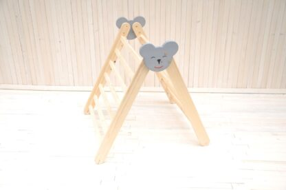 Pikler triangle Koala Barin Toys climbing frame for toddlers physical development. Order online at BarinToys.com to receive in 3-4 days term.