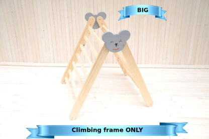 Pikler triangle Big Koala climbing frame Barin Toys with Beginner's board with Slide Montessori education pikler toys for toddler and babies from 6 months old.