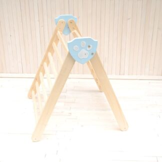 Climbing triangle wooden frame Barin Toys Paw Kingdom Pikler development Montessori baby toys available to order at BarinToys.com online toy shop.