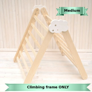 Toddler climbing frame toy Cloud by Barin Toys. Medium size climbing frame Pikler triangle toddler climbler early development toy buy with delivery at BarinToys.com toy store