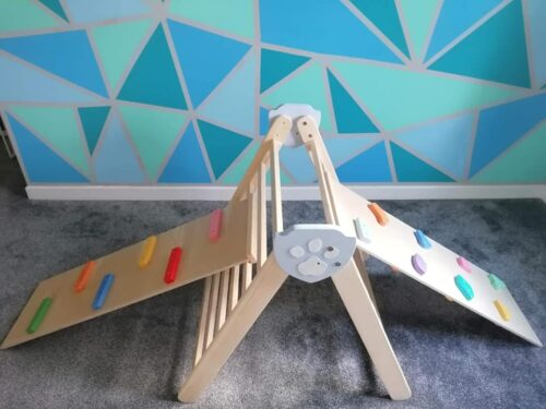 Baby rock climber - Barin Toys Rocks and Pebbles Advanced Board - reversible kids play climber slide toy photo review