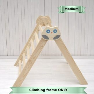 Barin Toys Baby climbing frame Owl in the Forest by Barin Toys. Order online compact and small climbing frame, easy folding baby climber indoor.