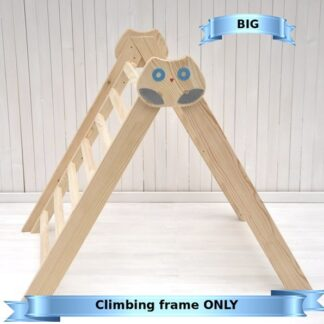 Pikler triangle climbing frame Owl in the Forest Barin Toys Pikler triangle essential montessori baby independent free play toy.