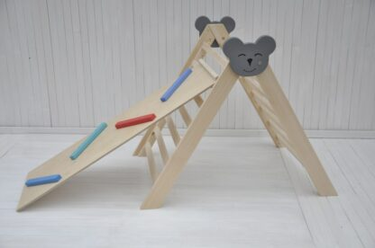 Climbing triangle Barin Toys Koala large pikler triangle montessori climber baby activity wooden play frame for indoor use set option with ball runner slide reversible board