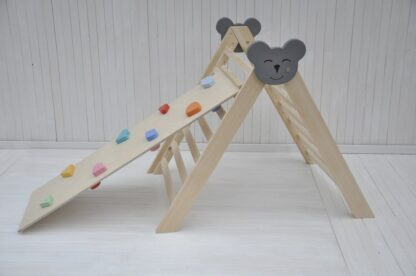 Climbing triangle Barin Toys Koala large pikler triangle montessori climber baby activity wooden play frame for indoor use set option with rock wall