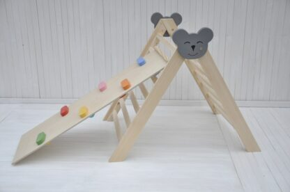 Climbing triangle Barin Toys Koala large pikler triangle montessori climber baby activity wooden play frame for indoor use set option with rocks and pebbles pikler slide reversible