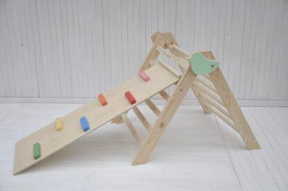 Triangulo pikler plegable Pajarito Bebé Barin Toys regular Triangulo Trepador con rampa escalera para opciones.