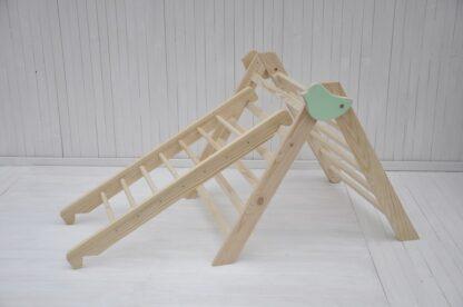 houten klimrek baby Barin Toys Kleine Vogel Medium Pikler Driehoek samen met opstapladder glijbaan voor binnen voor optie koop nu idee