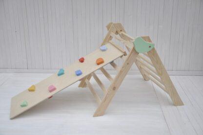 Petit oiseau Bébé triangle de pikler pliable Barin Toys le triangle pikler pas cher avis occasion