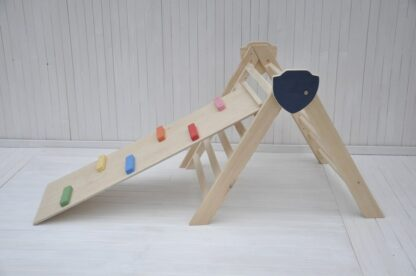Barin Toys pikler triangle climbing frame and slide wooden climbing baby set