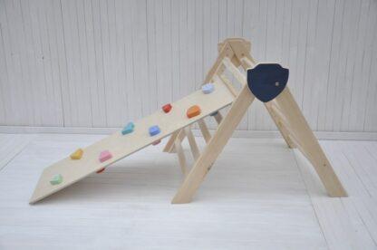 Cavaliere rampicante triangolo di pikler pieghevole per neonati Barin Toys torre di pikler giochi
