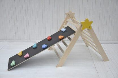 winkel online inklapbaar klimrek Baby Ster Barin Toys Medium pikler driehoek baby klimrek van Barin Toys