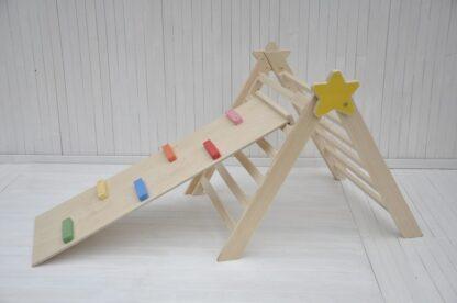Bébé étoile triangle de pikler pliable Barin Toys le triangle pikler pas cher avis occasion