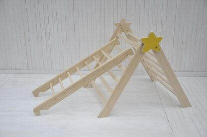 Baby Star Barin Toys pikler triangle climbing frame and wooden step board - climbing baby set shop online at BarinToys.com store