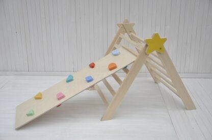 Baby Stella triangolo pikler montessori Barin Toys scala pikler scivolo arrampicata su roccia e ciottoli miglior prezzo in italia per comprare